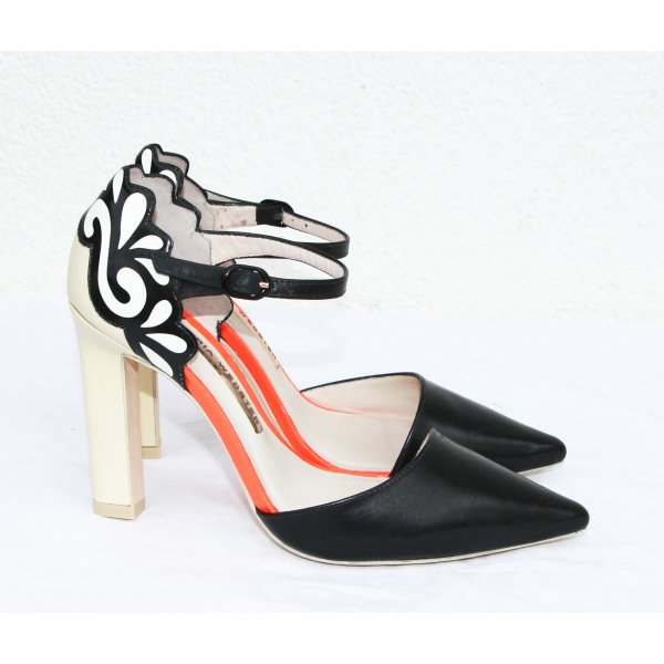 Sophia Webster Heels Pumps Pointed with Ankle Strap Multicolor Size 36,5 leather