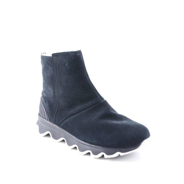 Sorel Reißverschluss-Stiefeletten schwarz-weiß extravaganter Stil