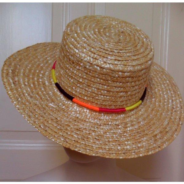 Cappello di paglia crema