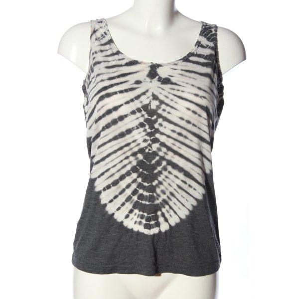 Soyaconcept Trägertop schwarz-weiß abstraktes Muster Casual-Look