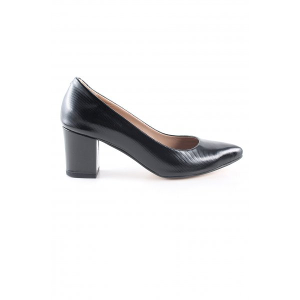 Spitz-Pumps schwarz Business-Look