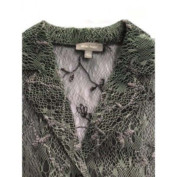 Spitzen-Blazer von Marc Aurel grau-Grün Größe 40