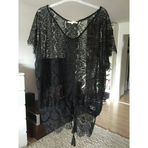 Ange Paris Camisa tipo túnica negro Poliéster