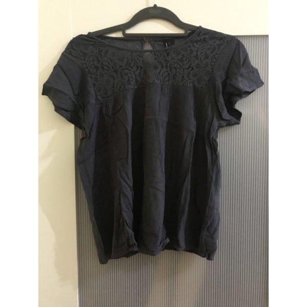 Vero Moda Gehaakt shirt grijs-leigrijs