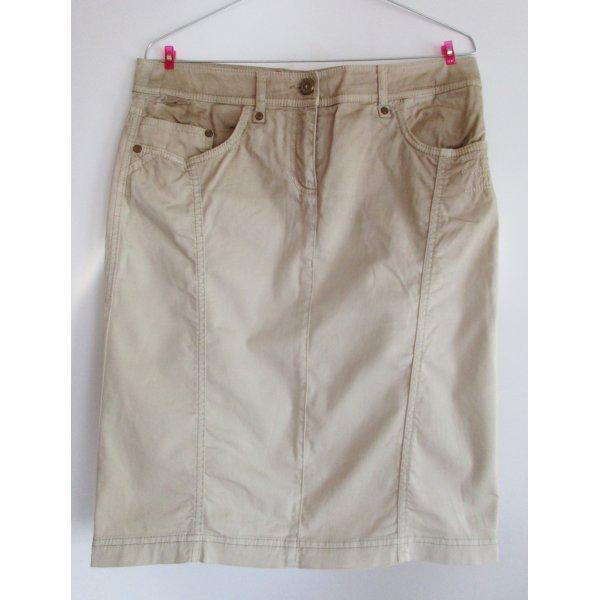 Sport Rock Skirt Sportalm Kitzbühl Größe M 40 Beige Stickerei Minirock Klassisch Jeans Stretch