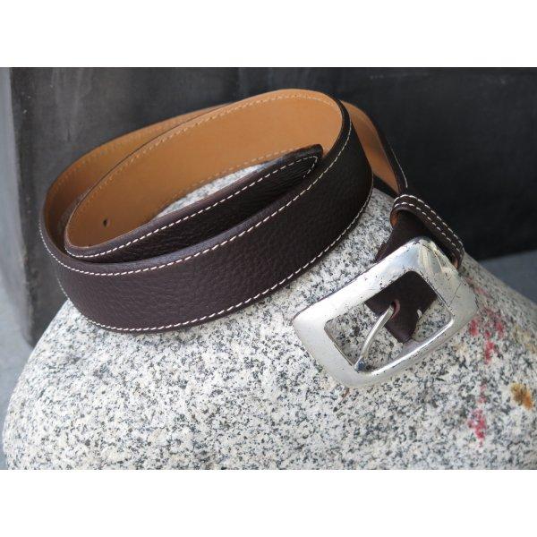 sportlicher Leder-Gürtel, Metall-Gürtelschnalle, Hand-Made