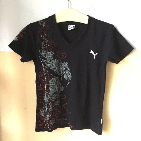 Sportliches Printshirt, V-Neck, Gr. L