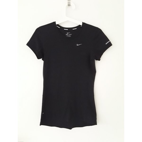 Nike Sportshirt zwart-zilver