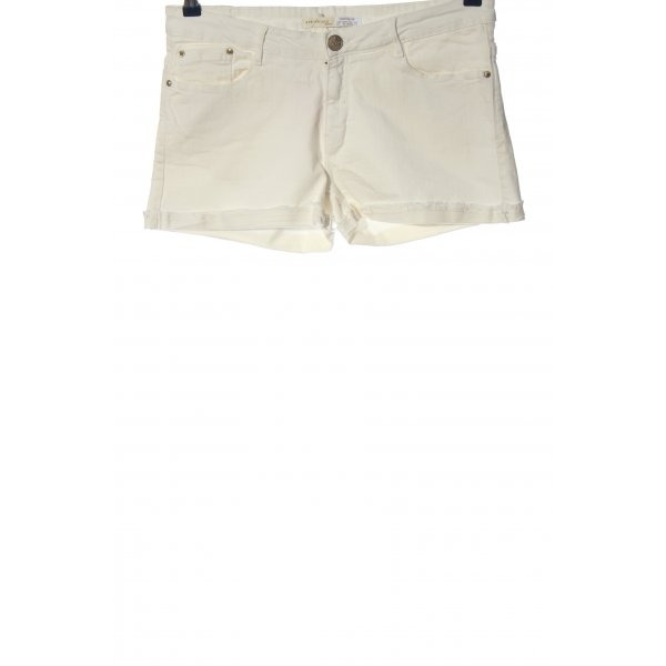 Springfield Jeansshorts wollweiß Casual-Look