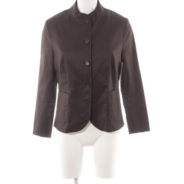 St. emile Langarm-Bluse dunkelbraun schlichter Stil