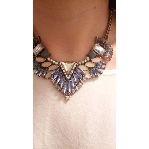 Statement Halskette, Halsband, mit Kristallen