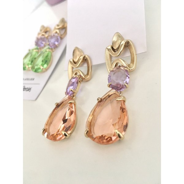 Statement Ohrringe &Other Stories Apricot Lila Gold Pastell