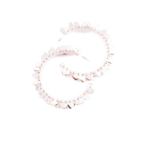 Statementohrringe roségoldfarben-hellrosa abstraktes Muster Casual-Look