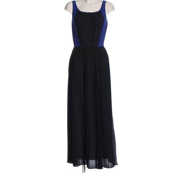 Stefanel Maxikleid schwarz-blau Elegant