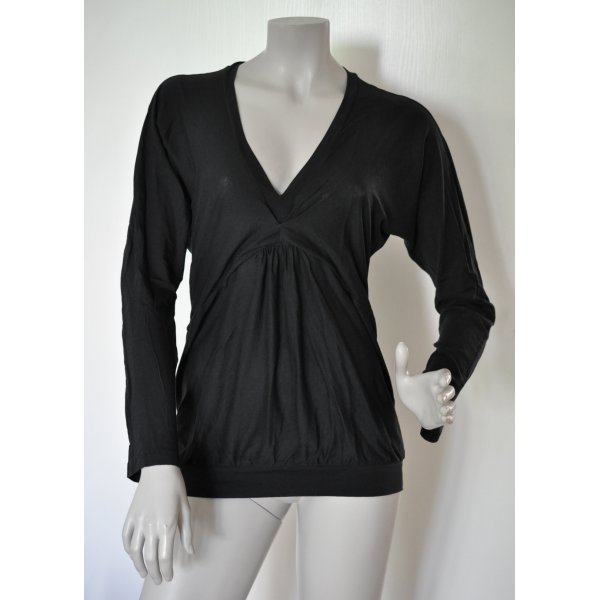 Stefanel Oversize Shirt Supima Baumwolle schwarz Gr. M