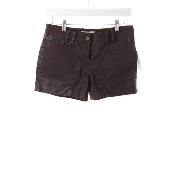 Stefanel Shorts Materialmix braun
