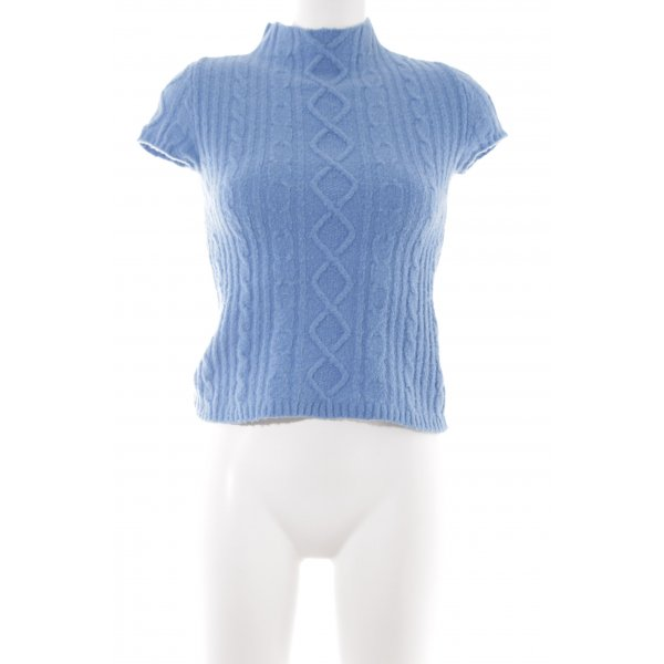 Stefanel Strickshirt kornblumenblau Casual-Look
