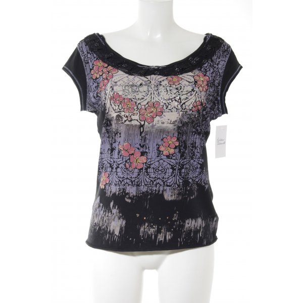 Stefanel T-Shirt abstraktes Muster Casual-Look