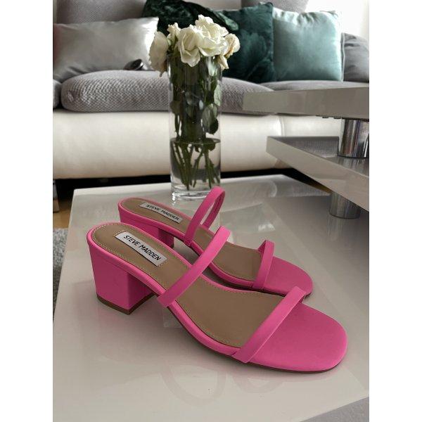 Steve Madden Strapped Sandals neon pink-pink