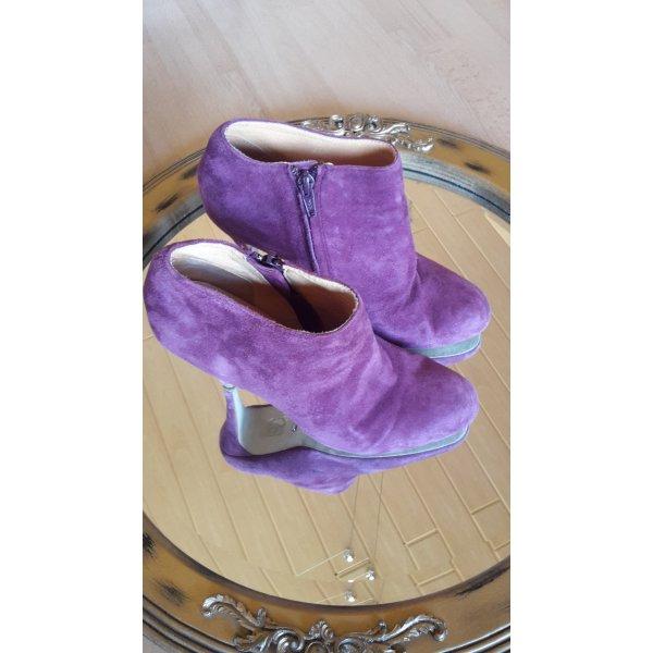 Stiefeletten High Heels Ankle Leder