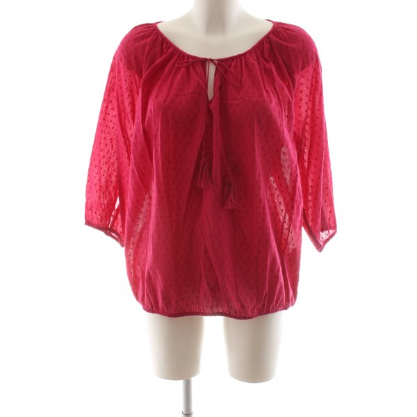 Stile Benetton Carmen-Bluse rot Allover-Druck Business-Look