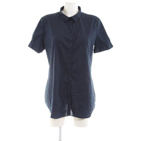 Stile Benetton Kurzarmhemd blau Business-Look