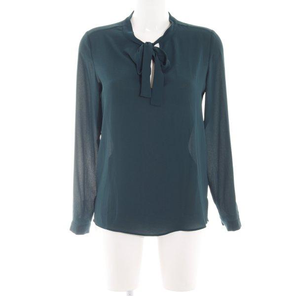 Stile Benetton Langarm-Bluse grün Business-Look