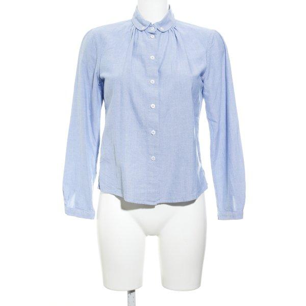 Stile Benetton Langarm-Bluse kornblumenblau meliert Casual-Look