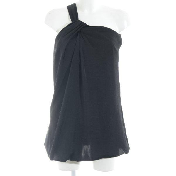 Stile Benetton One-Shoulder-Kleid schwarz Elegant