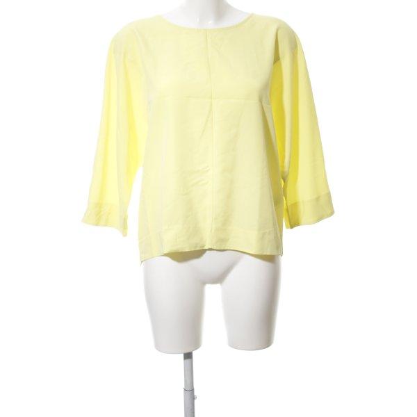 Stile Benetton Oversized Bluse blassgelb Casual-Look