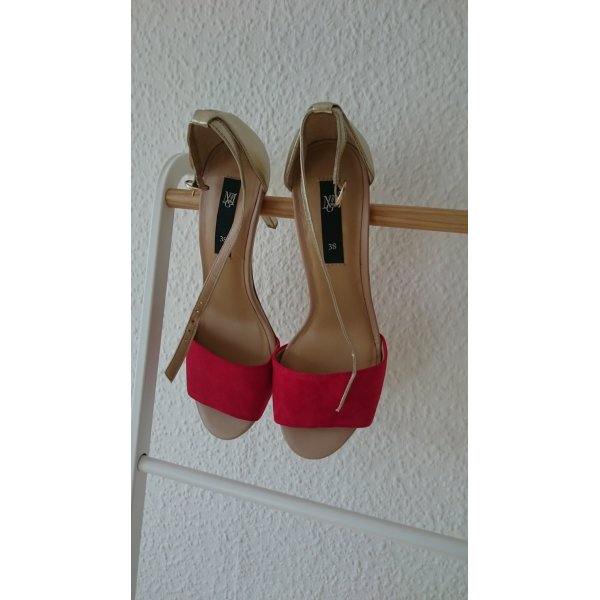 Stilettos rot-gold, Mango