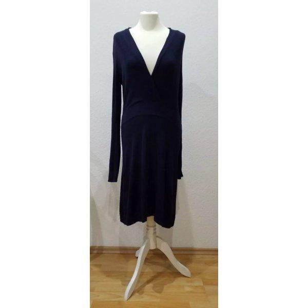 Stilvolles dunkelblaues Esprit Collection Viskose Kleid in Größe M