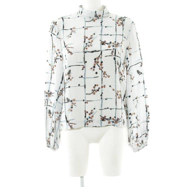 Stine Goya Langarm-Bluse Allover-Druck schlichter Stil