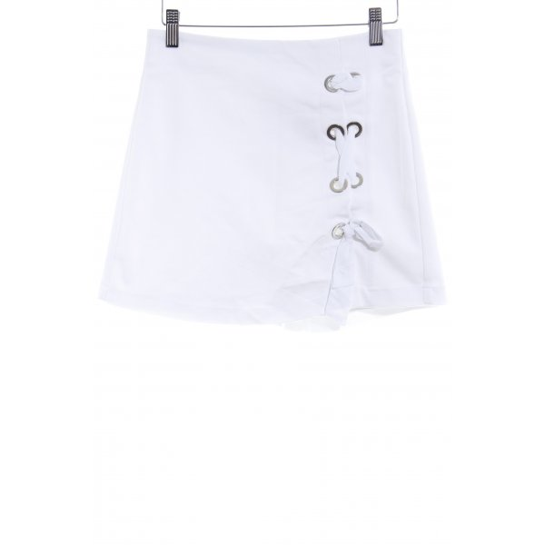 Stradivarius High-Waist-Shorts weiß Casual-Look