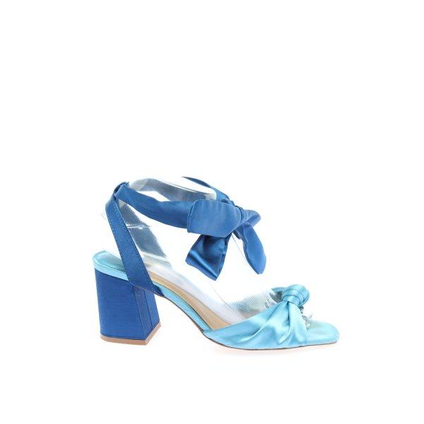 Stradivarius Riemchen-Sandaletten türkis-blau Casual-Look