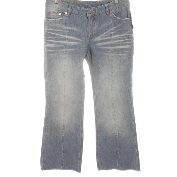 Straight-Leg Jeans himmelblau Used-Optik