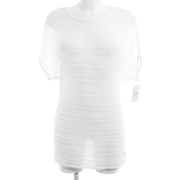 Street One Gehaakt shirt wit casual uitstraling