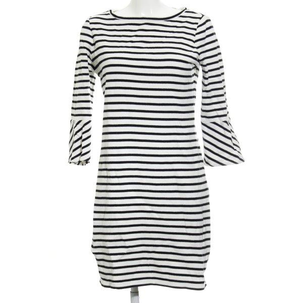Street One Langarmkleid weiß-schwarz Streifenmuster Casual-Look