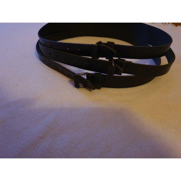Strenesse Blue Cintura di pelle nero