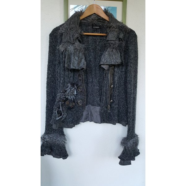 Knitted Twin Set dark grey