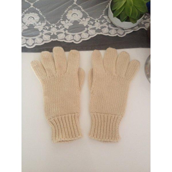 Strickhandschuhe wollweiß dick & warm
