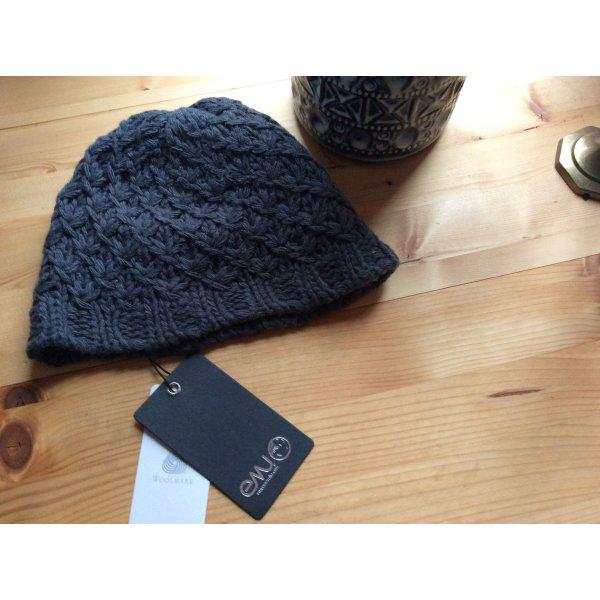 Emu Chapeau en tricot gris ardoise-gris anthracite laine