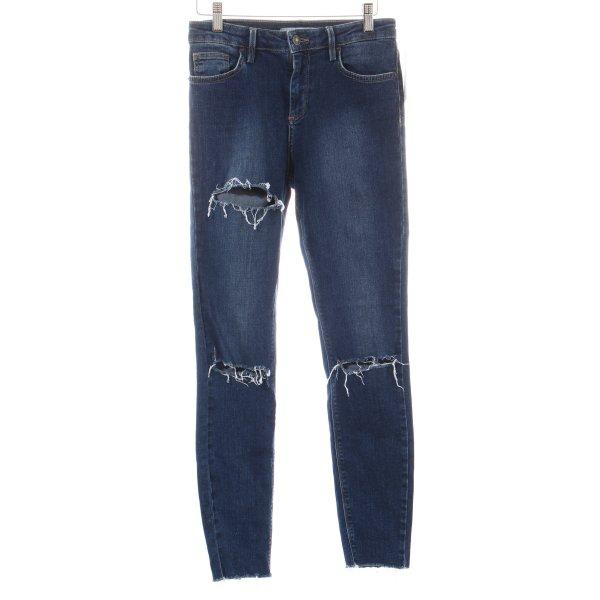 Subdued Skinny Jeans dunkelblau Street-Fashion-Look