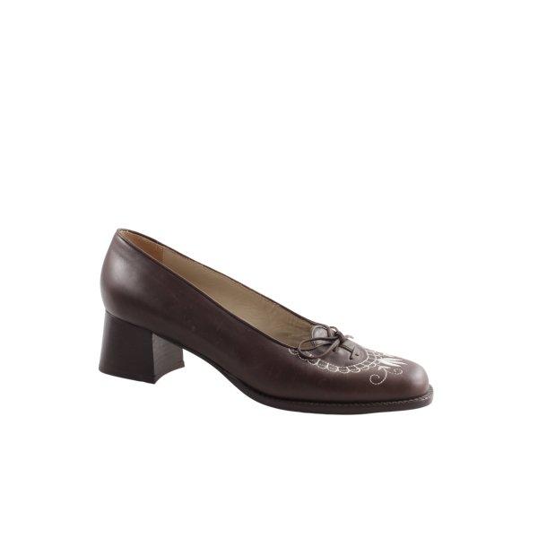 Südtiroler Schuhe Schnür-Pumps braun Vintage-Look