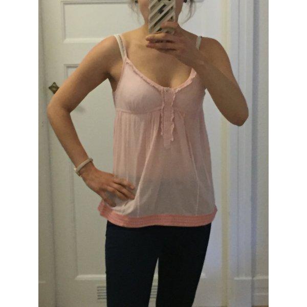 Süße Hilfiger Bluse in rosa, 100% Baumwolle