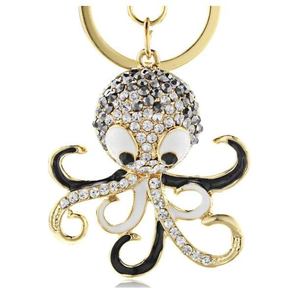 süßer Schlüssel- / Taschenanhänger Kracke Tintenfisch Calamari aus Metall NEU