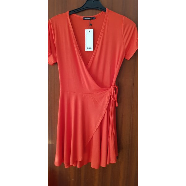 Boohoo Hooded Dress red
