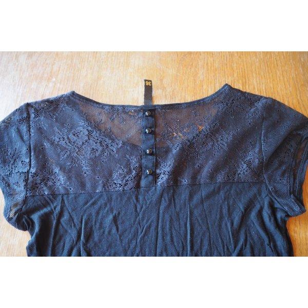 Süßes T-Shirt mit Spitze, NEUWERTIG, toller Tragekomfort, Gr. 36
