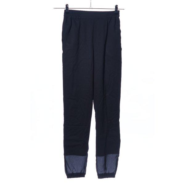 Suit Stretchhose schwarz Casual-Look