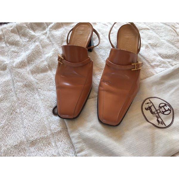 Hermès Scarpa bassa marrone chiaro Pelle